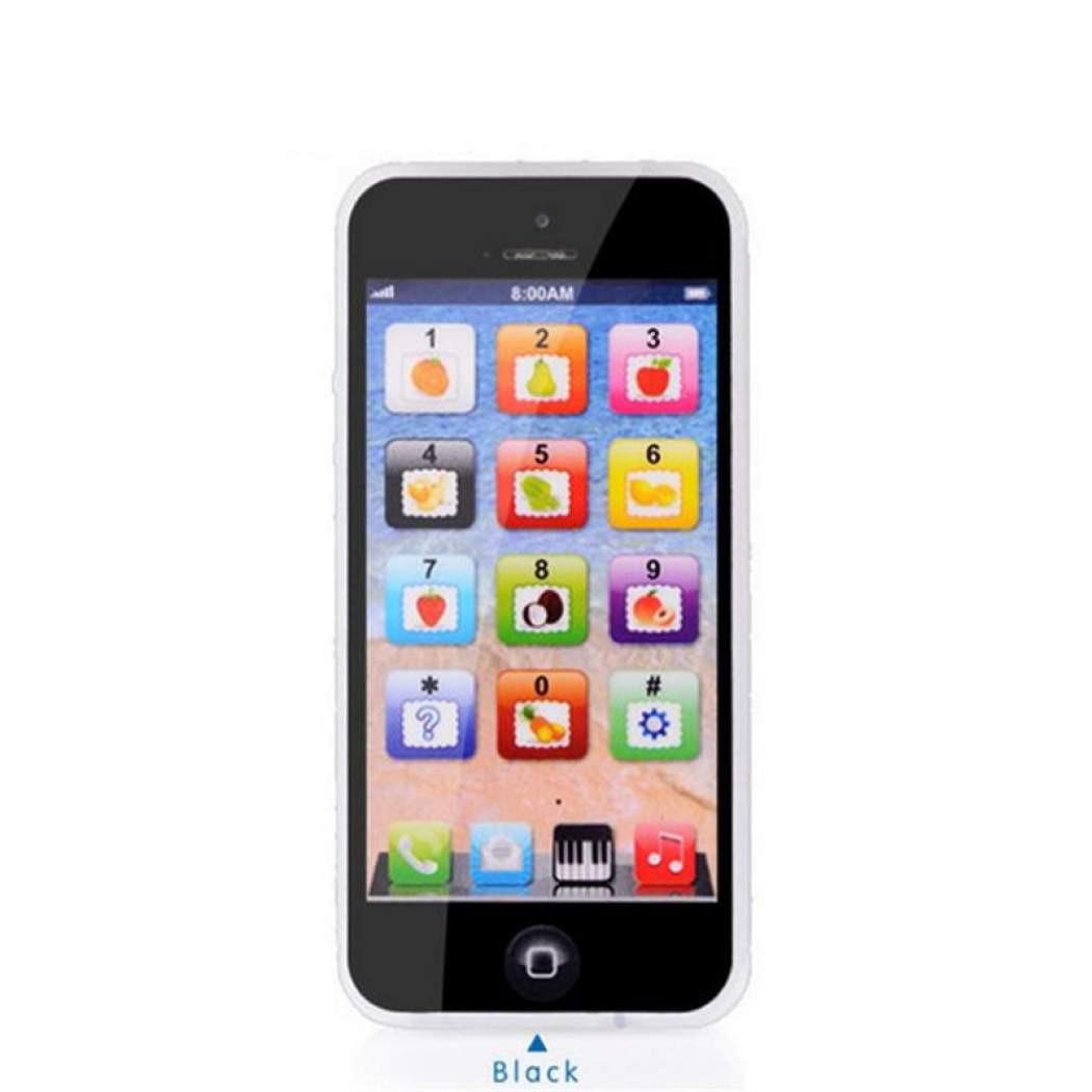Сенсорный детский телефон черный
