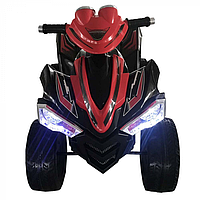 ZHEHUA Электроквадроцикл 12V/7Ah,45W*2,колеса EVA,свет,муз.,кож.сид.,91*66*64 см,Красный/RED-BLACK