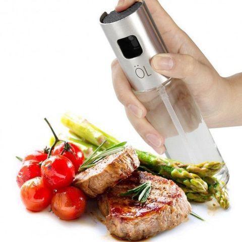 Бутылка стеклянная для масла / лимонного сока / уксуса с распылителем