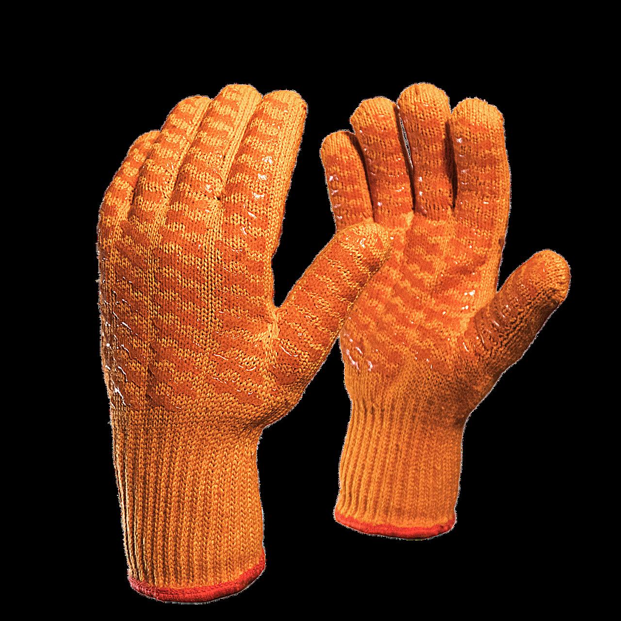 Перчатки трикотажные с двусторонним силиконовым покрытием в Алматы