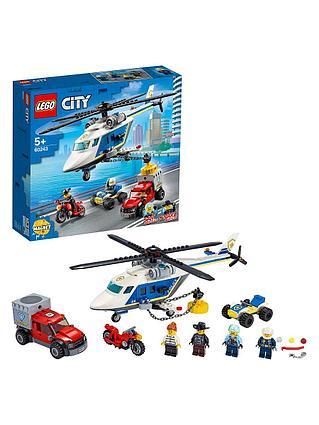Конструктор LEGO CITY Погоня на полицейском вертолете