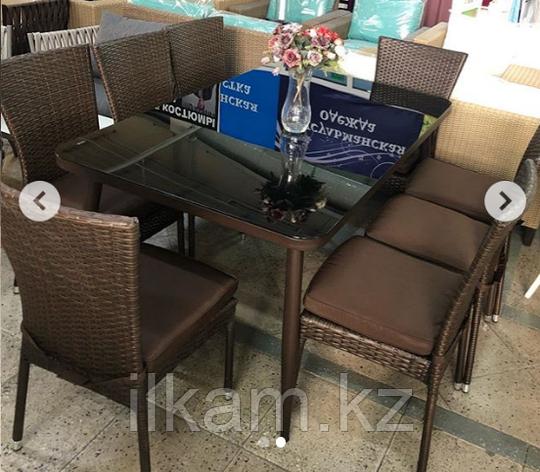 Комплект мебели из ротанга . Прямоугольный стол, восемь стульев., фото 2
