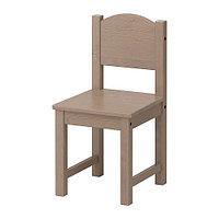 Детский стул СУНДВИК серо-коричневый ИКЕА, IKEA, фото 1