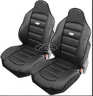 Накидки кожаные на передние сиденья Piton Leather 2 шт. (Болгария) черные, серые, бежевые