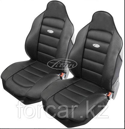 Накидки кожаные на передние сиденья Piton Leather 2 шт. (Болгария) черные, серые, бежевые, фото 2