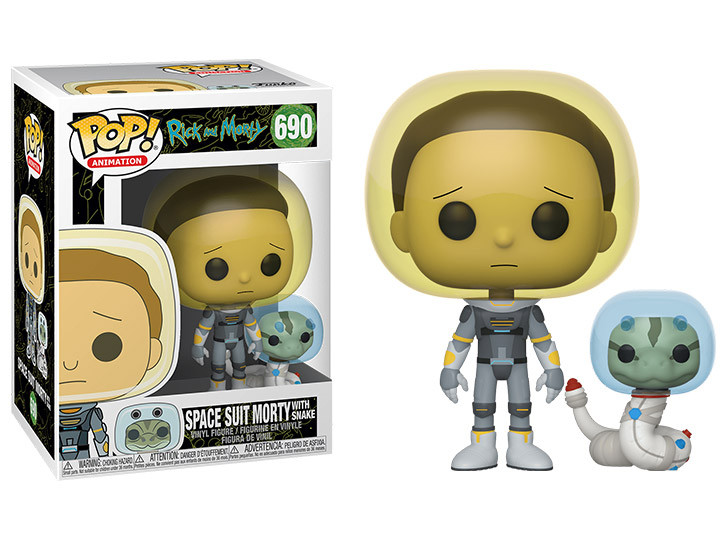 Funko Pop Rick & Morty- Space Suit Morty with snake