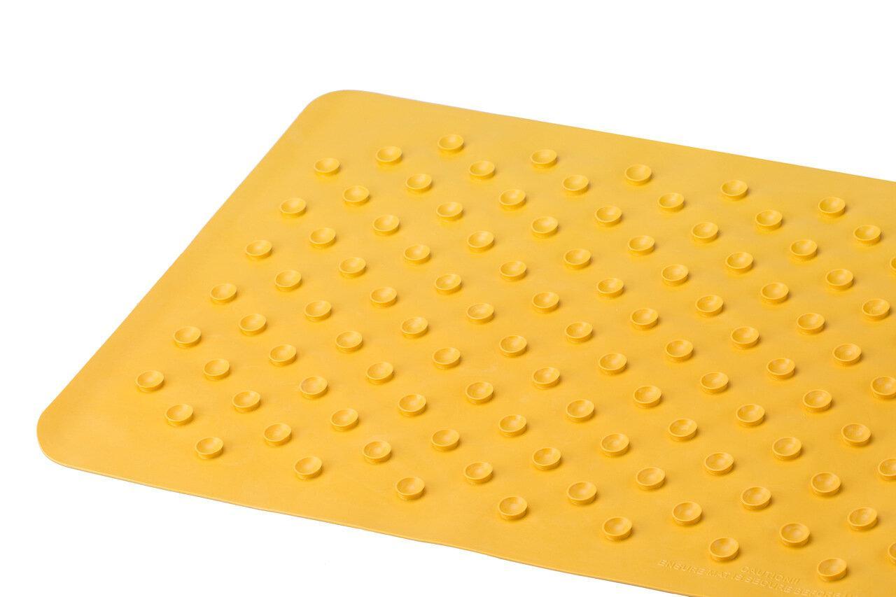Антискользящий резиновый коврик для ванны без отверстий, цвет желтый, 35*76 см - фото 3