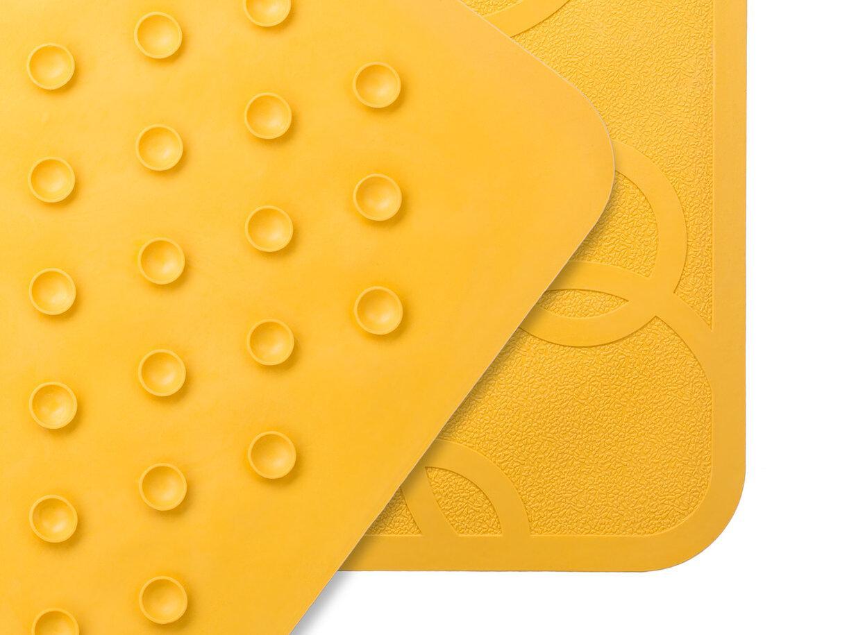 Антискользящий резиновый коврик для ванны без отверстий, цвет желтый, 35*76 см - фото 4