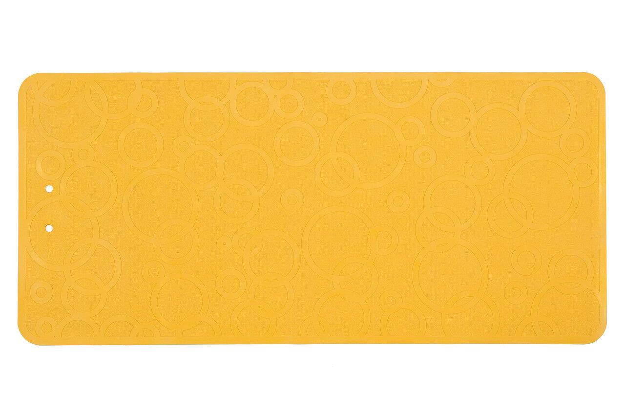 Антискользящий резиновый коврик для ванны без отверстий, цвет желтый, 35*76 см - фото 5