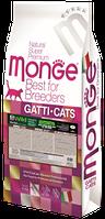 Monge BWild Grain Free Buffalo беззерновой корм для взрослых кошек с мясом буйвола картофелем и чечевицей 10 к