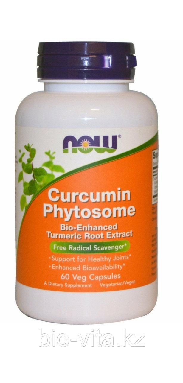 Now Foods, Фитосомы куркумина, 60 капсул. 500 мг экстракта куркумина. Усиленный!
