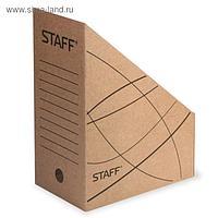 Накопитель документов, стойка-угол STAFF, 150 мм, до 1400 листов, бурый