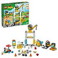 Конструктор Lego Duplo Башенный кран на стройке, Лего Дупло