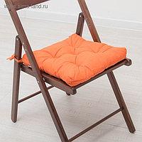 Набор подушек для стула 35х35 см 2шт, цв терракотовый, бязь, холлофайбер