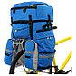 Велосумка на багажник Course 65-80+ л, цвет синий, фото 2