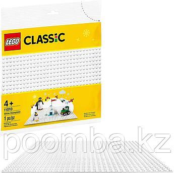 Конструктор LEGO - ЛЕГО Classic Классик Строительная пластина белого цвета