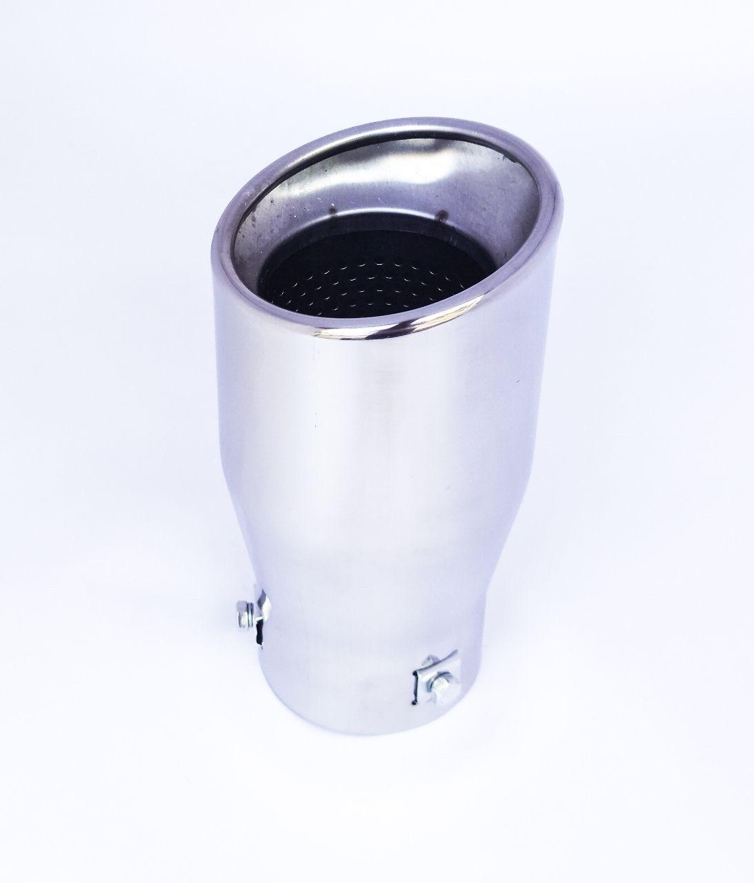 Хромированная насадка на глушитель скошенная, диаметр входа 63 мм