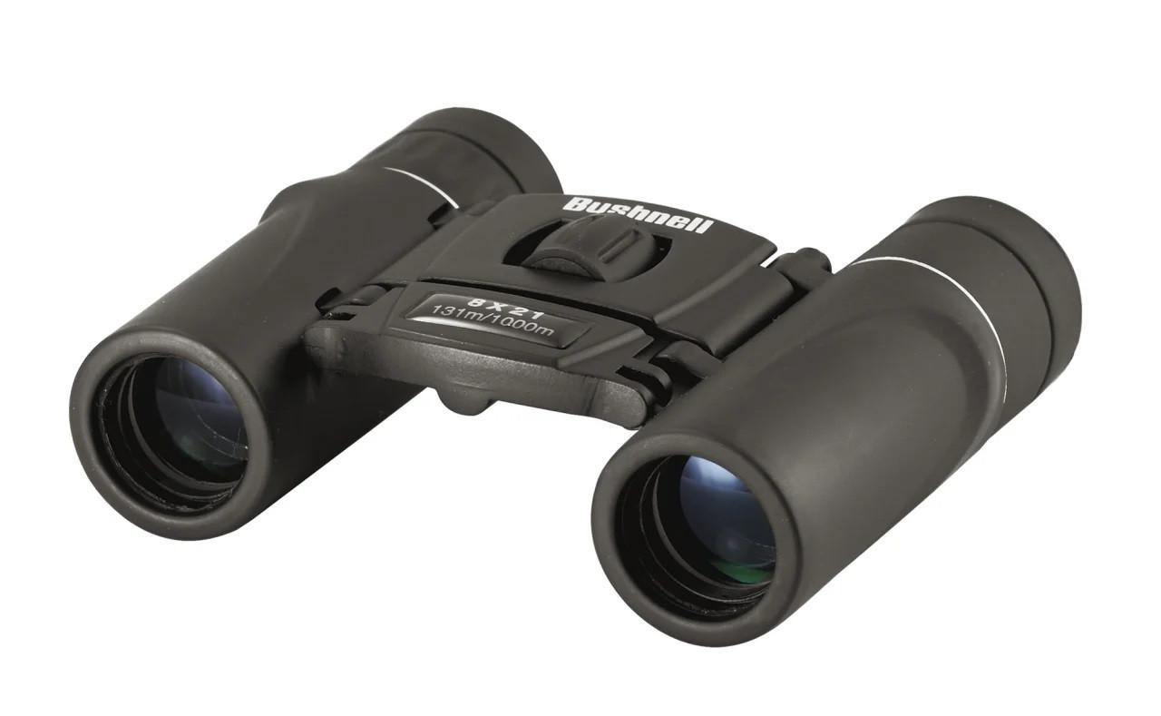 Компактный бинокль Bushnell 8x21 с широкоугольной оптикой + чехол для охоты и рыбалки