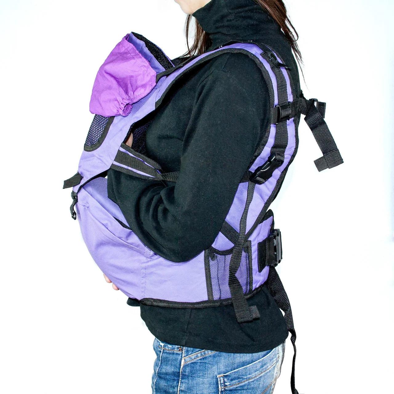 Рюкзак-кенгуру для переноски детей фиолетовый