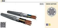 Гибкие экранированные кабели YSLY-CY-JZ 4x0,75 серый