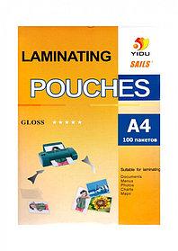 Пленка для ламинирования глянцевая YIDU A4/100/ 80mk (10)