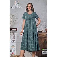 Платье летнее штапельное в горошек