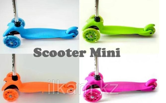 Самокат трехколесный Scooter Kids. Колеса силикон со стробами. - фото 2