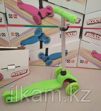 Самокат трехколесный Scooter Kids. Колеса силикон со стробами., фото 3