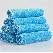 Бамбуковая салфетка для мытья посуды 18х23 см голубой, фото 3