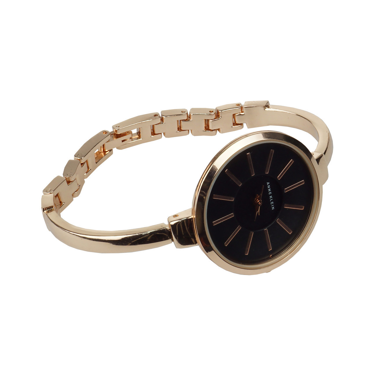 Часы в подарочной упаковке Anne Klein розово-золотистый + черный - фото 2