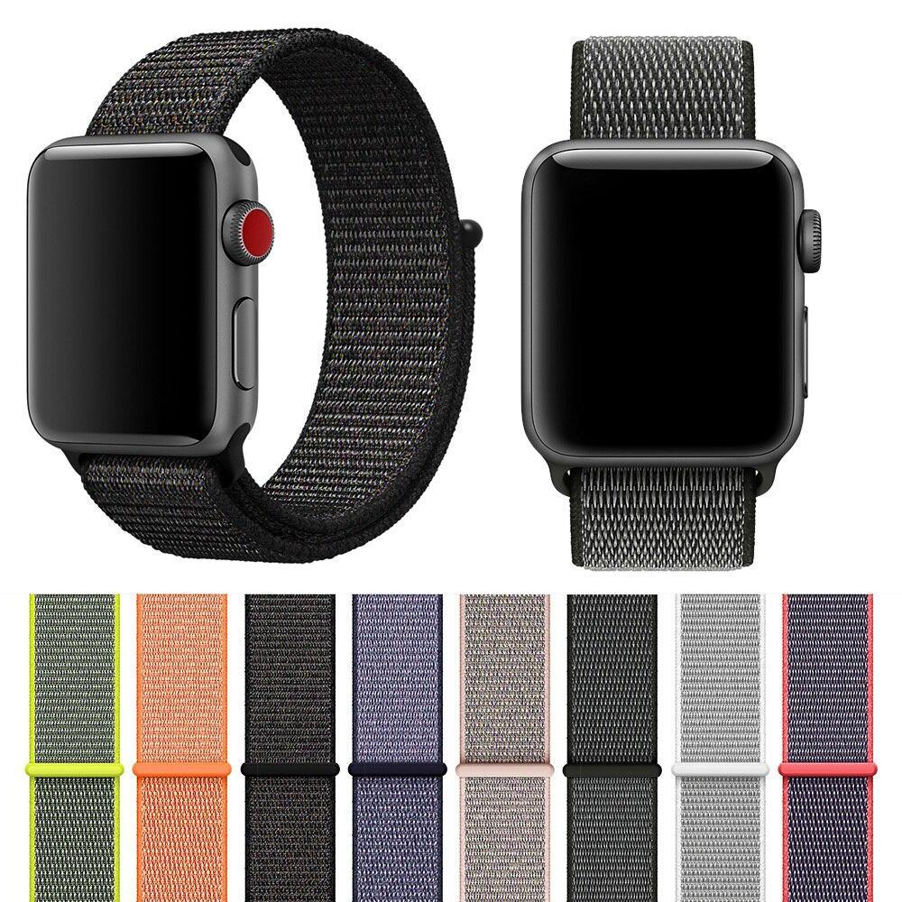 Тканый нейлоновый ремешок для часов для iWatch Apple Watch sport loop браслет и 36-40 мм