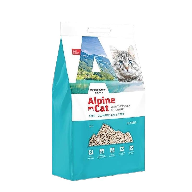 Комкующийся соевый наполнитель Alpine cat Классик