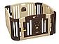 EDU PLAY Детский ограждение-манеж корич./жел.(без шаров) (116х116х60h), фото 2