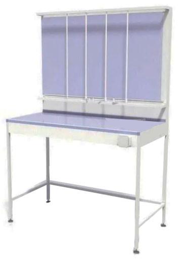 Стол титровальный, 4 штанги, 1 ящик, ц/м, 900х600х820 (1800) мм