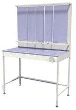 Стол титровальный, 5 штанг, 2 ящика, ц/м, 1200х600х820 (1800) мм