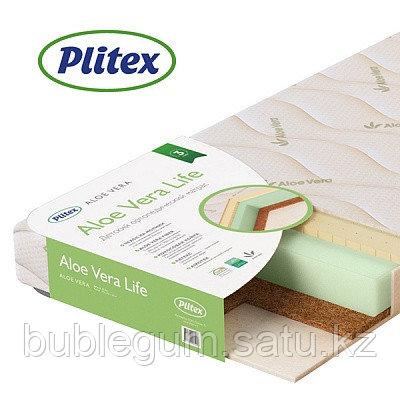 "Матрас беспружинный ортопедический двусторонний Plitex ""Aloe vera Life""  размер 190х60х11 см"