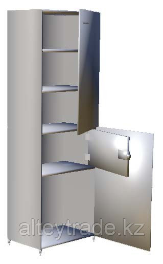 Шкаф лабораторный с сейфом, полки металл, замки, ц/м, 600х400х1800