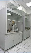 Шкаф вытяжной стальной стандартный со сливной кюветой, 1800х720х2200 мм