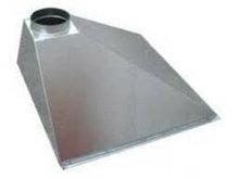 Зонт вытяжной (крепление, тройник, заслонка, воздуховод 200), 400х400х400