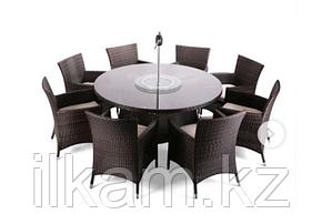 Комплект мебели  из ротанга. Большой  круглый стол , 8 солидных стульев, фото 2