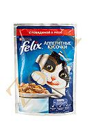 Влажный корм Феликс для кошек Говядина желе