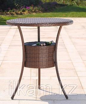 Комплект мебели из ротанга. Стол круглый , 4 барных стула, фото 2