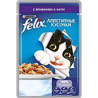 Влажный корм Феликс для кошек Ягнёнок желе