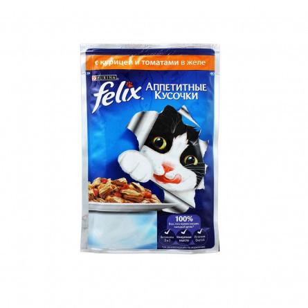 Влажный корм Феликс для кошек Курица и томаты