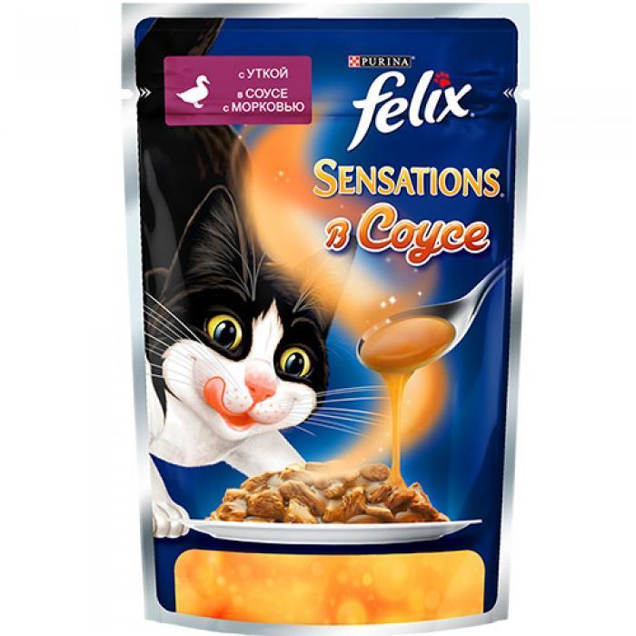 Влажный корм Феликс для кошек Утка с морковью в соусе