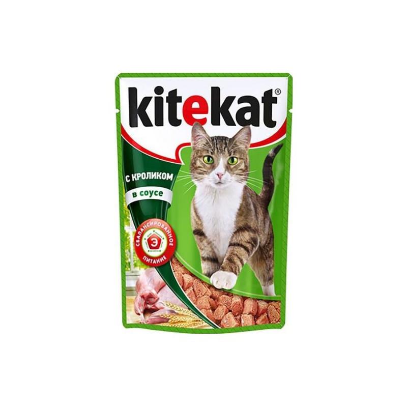 Влажный корм для кошек Китекет Кролик в соусе