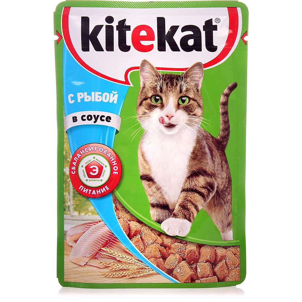 Влажный корм для кошек Китекет Рыба в соусе