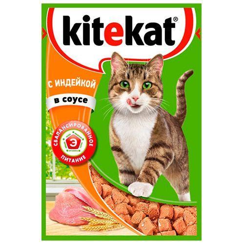 Влажный корм для кошек Китекет Индейка в соусе