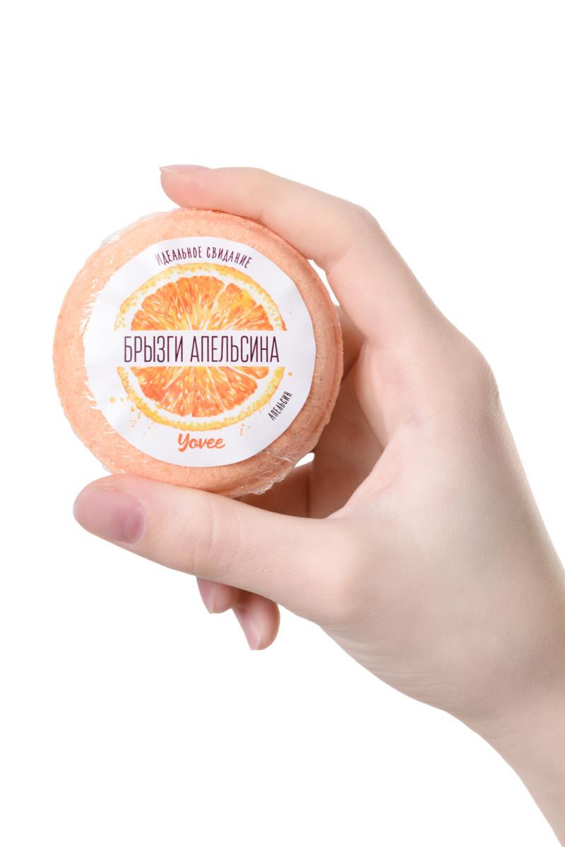 Бомбочка для ванны YOVEE BY TOYFA «Брызги Апельсина», С ароматом апельсина, 70г - фото 2