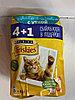 Friskies, Фрискис влажный корм для кошек, 4+1, пауч 85 гр.